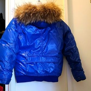 Marc jacobs winter  jacket real fur blue 💙 unisex